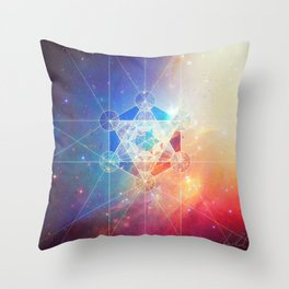 Box of the Universe Throw Pillow