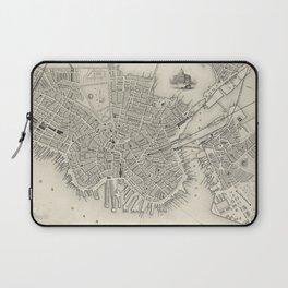 Vintage Map of Boston MA (1838) Laptop Sleeve