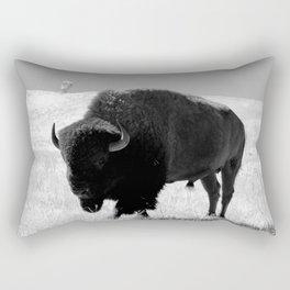 Bison On Open Range Rectangular Pillow