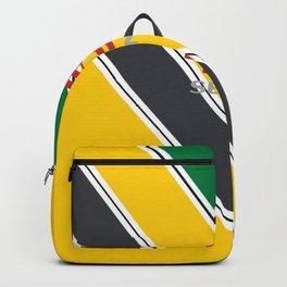 Ayrton Senna Stripes Logo Backpack