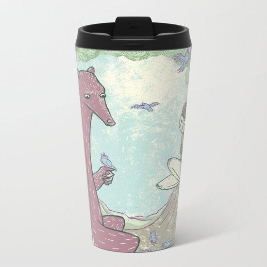 Bear and Bird Metal Travel Mug