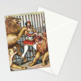 The Lion Tamer - Vintage Circus Art, 1873 Stationery Cards