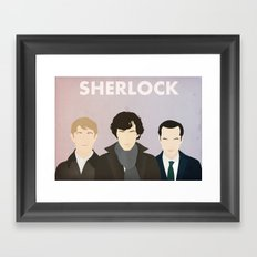 Sherlock Framed Art Print