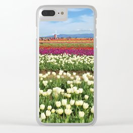 Woodburn Tulips Clear iPhone Case