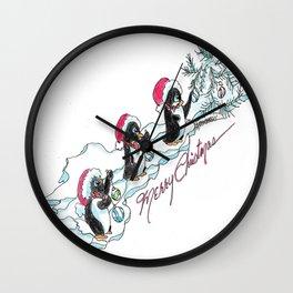 Penguins Decorating Wall Clock