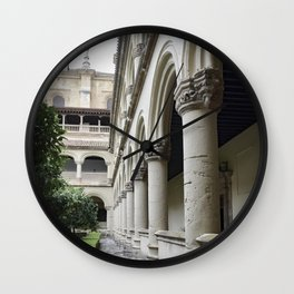 Spanish Cloister Patio Detail Wall Clock