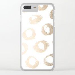 Luxe Gold City Dot Circles Clear iPhone Case