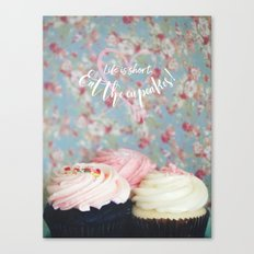 Eat the Cupcakes! Canvas Print
