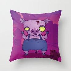 Zombie Pig Throw Pillow