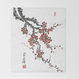 Cherry Blossom Two Throw Blanket