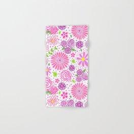 Happy Spring Flowers Hand & Bath Towel