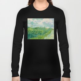 Green Wheat Fields, Auvers, 1890, Vincent van Gogh Long Sleeve T-shirt