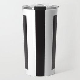 Black Greek Stripes Travel Mug