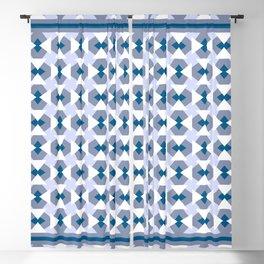 Geometric pattern Fake it until you'll make it, blue Blackout Curtain