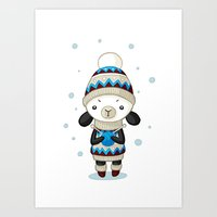 sheep Art Prints featuring Sheep by Freeminds