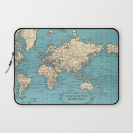 Pacific Projection World Map Laptop Sleeve