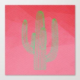 Deserted cactus - chevron pink Canvas Print