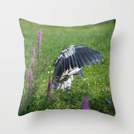 Welcome Heron Throw Pillow
