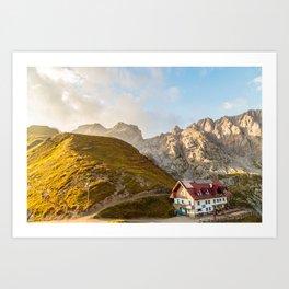 Sunset in the Carnic Alps, Friuli Venezia-Giulia, Italy Art Print
