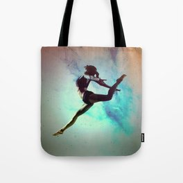 Ballet Dancer Feat Lady Dreams Abstract Art Tote Bag