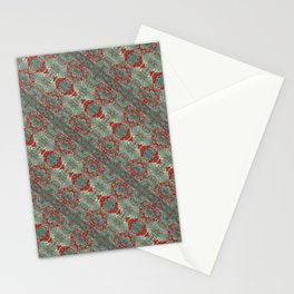 Autumn Green & Red Stationery Cards