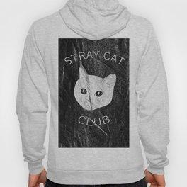 Stray Cat Club Black Background Hoody