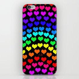 Coeurs d'Arc-en-ciel iPhone Skin