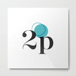Deuxième Page - Logo Metal Print