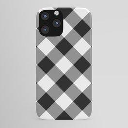 Gingham Plaid Black & White iPhone Case