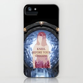Knee before your Goddess iPhone Case