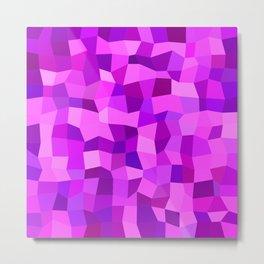 Pink purple tiles Metal Print