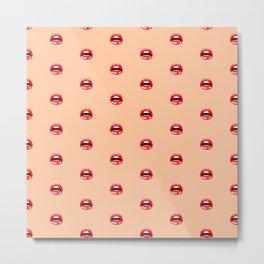 SEXY LIPS ((melon)) Metal Print
