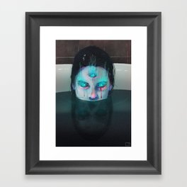 Demon in Bathtub Framed Art Print
