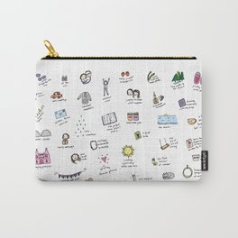 Happy Journal Happy Life: Drawing Your Day Carry-All Pouch