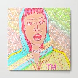 FEM NotShe - Feminist Digital Pride Drawing Pastel Rainbow Metal Print