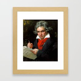 Ludwig van Beethoven (1770-1827) by Joseph Karl Stieler, 1820 Framed Art Print