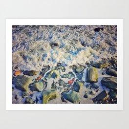 Pebble Wash - It Down Art Print