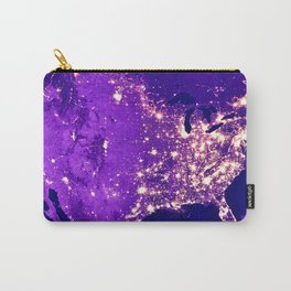 America Night Lit Up Carry-All Pouch