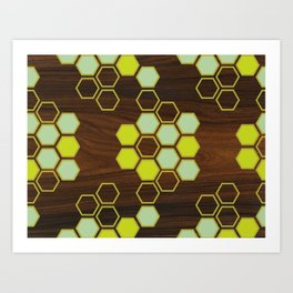 Hex in Green Art Print