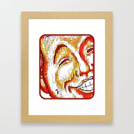 The Face of Mirth Framed Art Print