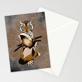 Tiger Samurai Ronin Stationery Cards