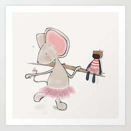 Little Mouse - Ballerina Art Print