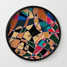 Abstraction. Curves and bends. Wall Clock