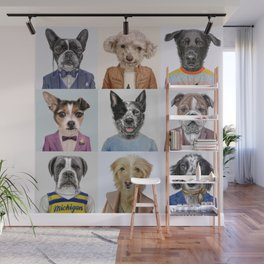 Dogs Wall Mural