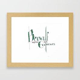 Beowulf Mathelode Framed Art Print