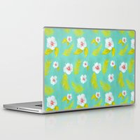hibiscus Laptop & iPad Skins featuring Hibiscus by Maya Bee Illustrations