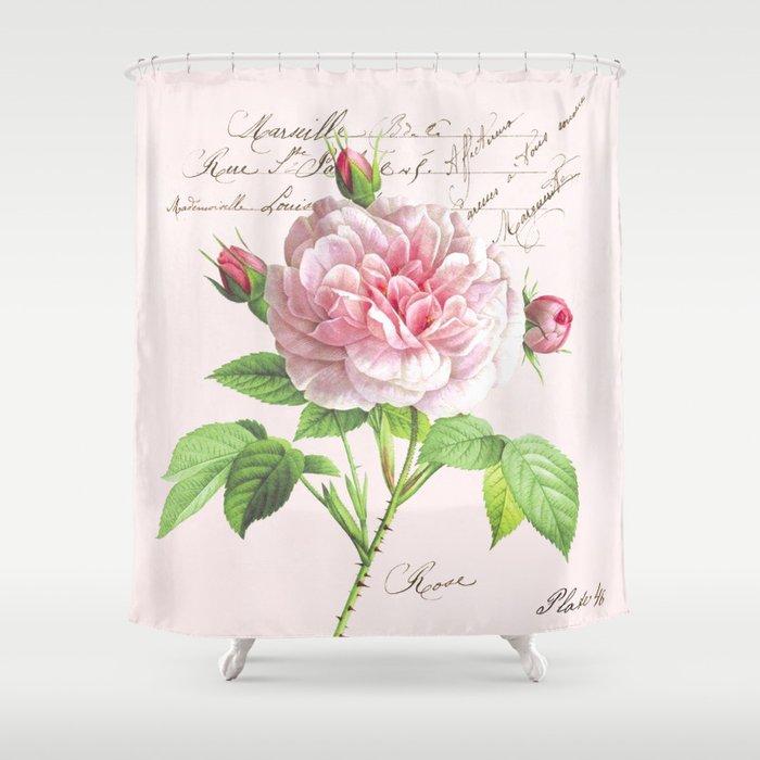Paris Rose Shower Curtain