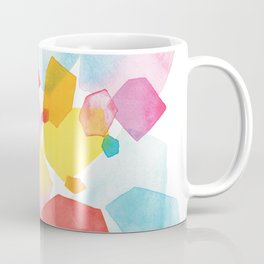 hand painted abstract sunset Coffee Mug