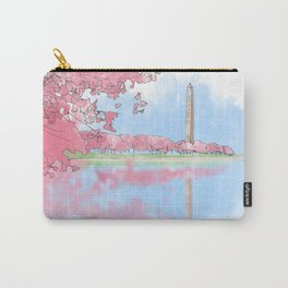 Cherry Blossom - Washington Monument Carry-All Pouch