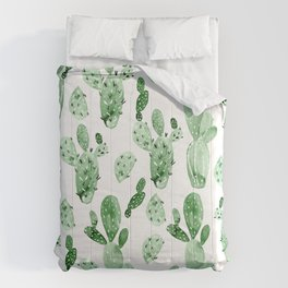 Green Cactus Field - Large Comforters